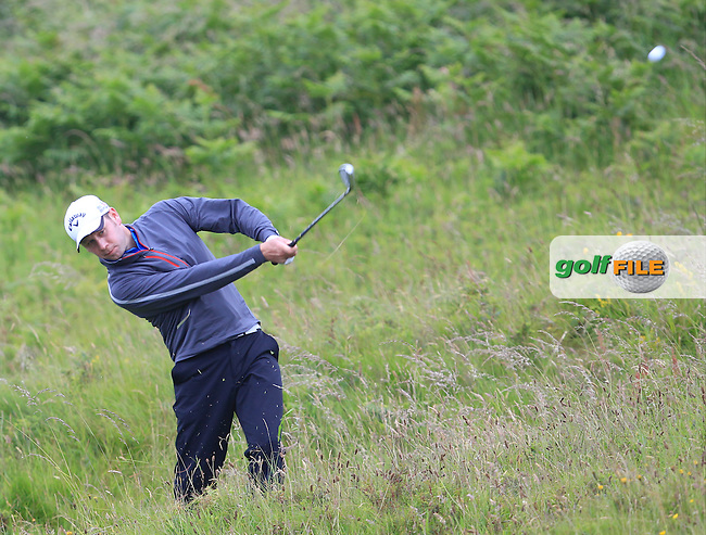 David Sutton (Lurgan) on the 10th during the Semi-Finals of the North of Ireland Amateur Open Championship at Royal Portrush, Dunluce Course on Friday 17th July 2015.<br /> Picture:  Golffile | Thos Caffrey