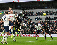 26th December 2019; Tottenham Hotspur Stadium, London, England; English Premier League Football, Tottenham Hotspur versus Brighton and Hove Albion; Adam Webster of Brighton & Hove Albion scores with a header in the 37th minute to make it 0-1 - Strictly Editorial Use Only. No use with unauthorized audio, video, data, fixture lists, club/league logos or 'live' services. Online in-match use limited to 120 images, no video emulation. No use in betting, games or single club/league/player publications