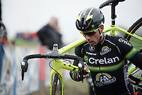 Sven Nys (BEL/Crelan-AAdrinks) at recon<br /> <br /> Jaarmarktcross Niel 2015