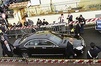 Roma, 16 Dicembre 2012.Colle Prenestino.Papa Benedetto XVI visita la parrocchia di San Patrizio nel quartiere Colle Prenestino , estrema periferia di Roma