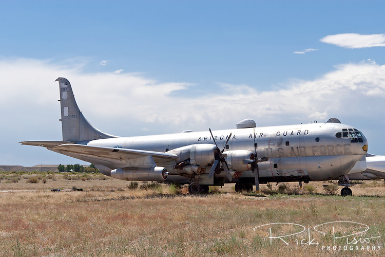 A Boeing C-97 Stratofreighter sits in the Hawkins &amp; Powers storage area at Greybull, Wyoming.<br />
