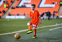 One of the Blackpool mascots kicks a ball on the touchline<br /> <br /> Photographer Alex Dodd/CameraSport<br /> <br /> The EFL Sky Bet League One - Blackpool v Sunderland - Tuesday 1st January 2019 - Bloomfield Road - Blackpool<br /> <br /> World Copyright © 2019 CameraSport. All rights reserved. 43 Linden Ave. Countesthorpe. Leicester. England. LE8 5PG - Tel: +44 (0) 116 277 4147 - admin@camerasport.com - www.camerasport.com