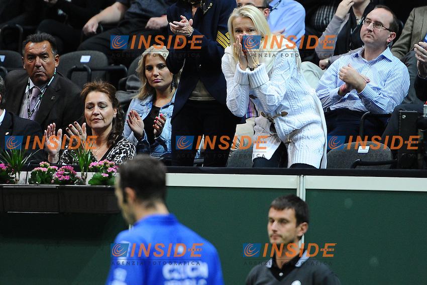 Jana Novotna supporting Radek Stepanek (Cze) La Repubblica Ceca vince la coppa Davis 2012 di Tennis .Praga 16-18/11/2012.Finale Coppa Davis.Repubblica Ceca Vs Spagna.Foto Couvercelle / Tennismag / Panoramic / Insidefoto