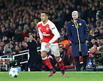 Arsenal's Arsene Wenger watches Alexis Sanchez during the Champions League group A match at the Emirates Stadium, London. Picture date November 23rd, 2016 Pic David Klein/Sportimage