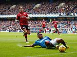 07.04.2018: Rangers v Dundee:<br /> Alfredo Morelos and Josh Meekings