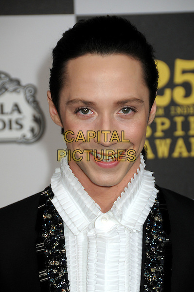 JOHNNY WEIR.25th Annual Film Independent Spirit Awards - Arrivals held at the Nokia Event Deck at L.A. Live, Los Angeles, California, USA..March 5th, 2010.headshot portrait black white   beaded jewelled embellished .CAP/ADM/BP.©Byron Purvis/AdMedia/Capital Pictures.