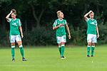 02.08.2020, wohninvest Weserstadion Platz 12, Bremen, GER,FSP, FLYERALARM, FFBL SV Werder Bremen vs  SV Henstedt-Ulzburg, <br /> <br /> <br /> <br />  im Bild<br /> <br /> Sophie Walter (WerderBremen8)<br /> Lina Hausicke (WerderBremen18)<br /> Michelle Ulbrich (WerderBremen5)<br /> <br /> <br /> Foto © nordphoto / Kokenge