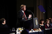 United States President Donald Trump delivers remarks at the National Prayer Breakfast February 2, 2017 in Washington, DC. Every U.S. president since Dwight Eisenhower has addressed the annual event. <br /> Credit: Win McNamee / Pool via CNP