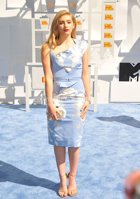WWW.ACEPIXS.COM<br /> <br /> April 12 2015, LA<br /> <br /> Willow Shields arriving at the 2015 MTV Movie Awards at the Nokia Theatre L.A. Live on April 12, 2015 in Los Angeles, California.<br /> <br /> By Line: Peter West/ACE Pictures<br /> <br /> <br /> ACE Pictures, Inc.<br /> tel: 646 769 0430<br /> Email: info@acepixs.com<br /> www.acepixs.com
