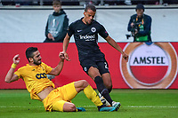 Timothy Chandler (Eintracht Frankfurt) gegen Aleksandar Boljevic (Standard Lüttich, R. Standard de Liege) - 24.10.2019:  Eintracht Frankfurt vs. Standard Lüttich, UEFA Europa League, Gruppenphase, Commerzbank Arena<br /> DISCLAIMER: DFL regulations prohibit any use of photographs as image sequences and/or quasi-video.