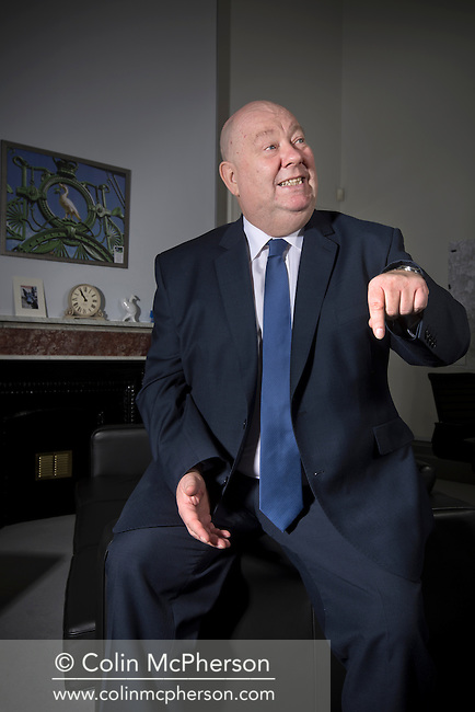 The Mayor of Liverpool, Joe Anderson, pictured in his office at the Municipal Buildings in the city. Anderson is a British Labour Party politician who is the first directly elected mayor of Liverpool, having been elected with 57% of the vote on 3 May 2012. He previously served as leader of Liverpool City Council from the 2010 Council election until the 2012 Mayoral election, having been a councillor since1988.