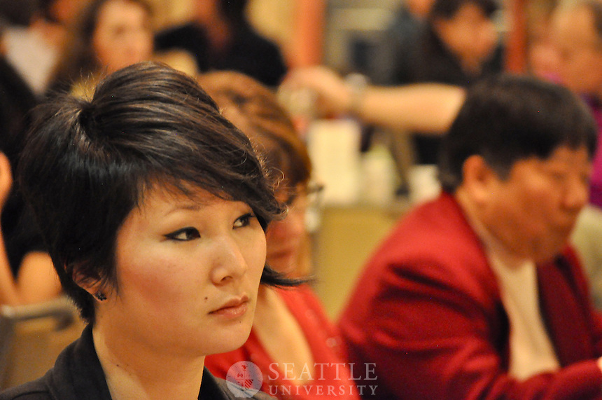 International Dinner, Performances, International Student Week, diversity, dancers, musicians, student gathering, audience, students, faculty, School of Taiko,  1/28/2012