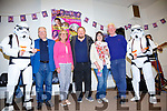Pictured at the launch night for the Cahersiveen Festival of Music & the Arts were l-r; Stormtrooper1, Bill Thorne, Alma Banks, Hugh Horgan, Elma Shine, Jerry Enright & Stormtrooper2.