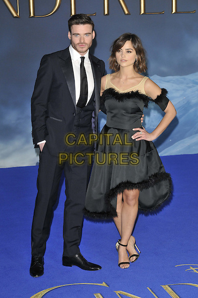 LONDON, ENGLAND - MARCH 19: Richard Madden &amp; Jenna Coleman attend the &quot;Cinderella&quot; UK film premiere, Odeon Leicester Square cinema, Leicester Square, on Thursday March 19, 2015 in London, England, UK. <br /> CAP/CAN<br /> &copy;Can Nguyen/Capital Pictures