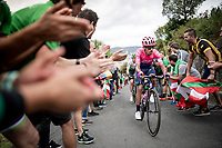 Daniel Felipe Martínez (COL/EF Education First) up the brutal (last climb) Alto de Arraiz (up to 25% gradients!), 7km from the finish <br /> <br /> Stage 12: Circuito de Navarra to Bilbao (171km)<br /> La Vuelta 2019<br /> <br /> ©kramon