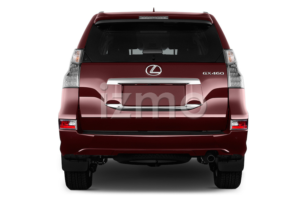 Straight rear view of 2017 Lexus GX 460 5 Door SUV Rear View  stock images