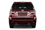 Straight rear view of 2018 Lexus GX 460 5 Door SUV Rear View  stock images