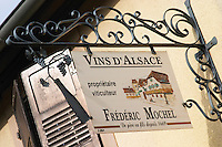 wrought iron sign dom frederic mochel traenheim alsace france