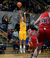 Layshia Clarendon of California shoots the ball during the game against St. Mary's at Haas Pavilion in Berkeley, California on November 15th, 2012.  California defeated St. Mary's, 89-41.