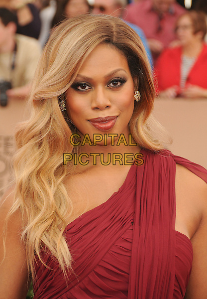 30 January 2016 - Los Angeles, California - Laverne Cox. 22nd Annual Screen Actors Guild Awards held at The Shrine Auditorium.      <br /> CAP/ADM/BP<br /> &copy;BP/ADM/Capital Pictures