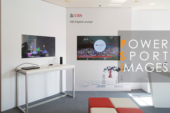 Digital lounge during the 58th UBS Hong Kong Golf Open as part of the European Tour on 10 December 2016, at the Hong Kong Golf Club, Fanling, Hong Kong, China. Photo by Vivek Prakash / Power Sport Images