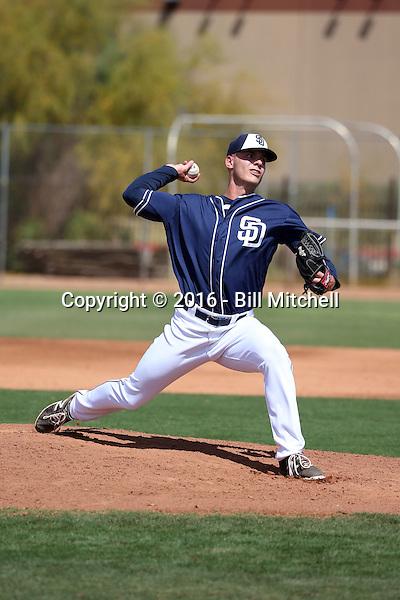 Elliot Ashbeck - San Diego Padres 2016 spring training (Bill Mitchell)