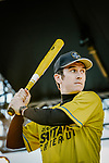 Baseball skills time for Tour de France Champion Geraint Thomas (WAL) at the media day before the 2018 Saitama Criterium, Japan. 3rd November 2018.<br /> Picture: ASO/Pauline Ballet | Cyclefile<br /> <br /> <br /> All photos usage must carry mandatory copyright credit (© Cyclefile | ASO/Pauline Ballet)