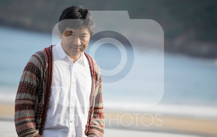 Director Hirokazu Kore-eda posses during the 61 San Sebastian Film Festival, in San Sebastian, Spain. September 20, 2013. (ALTERPHOTOS/Victor Blanco)