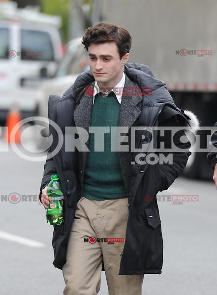 abril 2012: en el set de  Kill Your Darlings, Daniel Radcliffe, de Nueva York, Nueva York. (*Foto:©MPI15/Mediapunchinc/NortePhoto.com*)<br /> **SOLO*VENTA*EN*MEXiCO**
