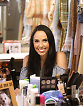 Brittany Pollack in her dressing room during her Broadway Debut in 'Carousel' photo shoot at the Imperial Theatre on May 23, 2018 in New York City.
