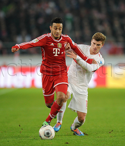 29.01.2014 Stuttgart, Germany.  Thiago Alcantara during the Bundesliga game between VfB Stuttgart v Bayern Munich from the Gottlieb Daimler Stadion.