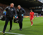 Liverpool's Philippe Coutinho goes off injured during the Premier League match at Vicarage Road Stadium, London. Picture date: May 1st, 2017. Pic credit should read: David Klein/Sportimage