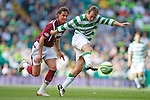 Aiden McGeady cracks a shot off the bar