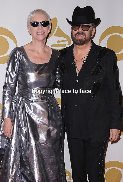 LOS ANGELES, CA - JANUARY 27:  Annie Lennox and Dave Stewart of Eurythmics reunite at &quot;The Night That Changed America: A Grammy Salute to The Beatles&quot; at the Los Angeles Convention Center West Hall on January 27, 2014 in Los Angeles, California. <br /> Credit: MediaPunch/face to face<br /> - Germany, Austria, Switzerland, Eastern Europe, Australia, UK, USA, Taiwan, Singapore, China, Malaysia, Thailand, Sweden, Estonia, Latvia and Lithuania rights only -
