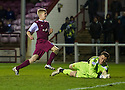 Arbroath's Jack Smith (9) celebrates after he scores their second goal.