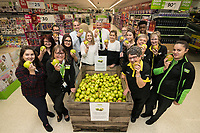 Staff and customers get their teeth into the Bramley Apples