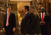 Donald Trump, Jr., arrives to Trump Tower on January 17, 2017 in New York City. U.S. President Elect Donald Trump is still holding meetings upstairs at Trump Tower just 3 days before the inauguration.      <br /> Credit: Bryan R. Smith / Pool via CNP