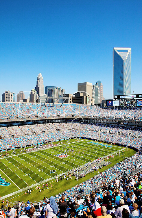 The Carolina Panthers football at Bank of America Stadium in Charlotte, North Carolina.