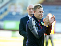 Burnley's Scott Arfield applauds the fans after the match<br /> <br /> Photographer Alex Dodd/CameraSport<br /> <br /> The Premier League - Burnley v Bournemouth - Sunday 13th May 2018 - Turf Moor - Burnley<br /> <br /> World Copyright &copy; 2018 CameraSport. All rights reserved. 43 Linden Ave. Countesthorpe. Leicester. England. LE8 5PG - Tel: +44 (0) 116 277 4147 - admin@camerasport.com - www.camerasport.com