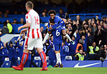 Danny Drinkwater of Chelsea celebrates scoring his goal to make it 2-0 with team mate Willian of Chelsea during the premier league match at Stamford Bridge Stadium, London. Picture date 30th December 2017. Picture credit should read: Robin Parker/Sportimage