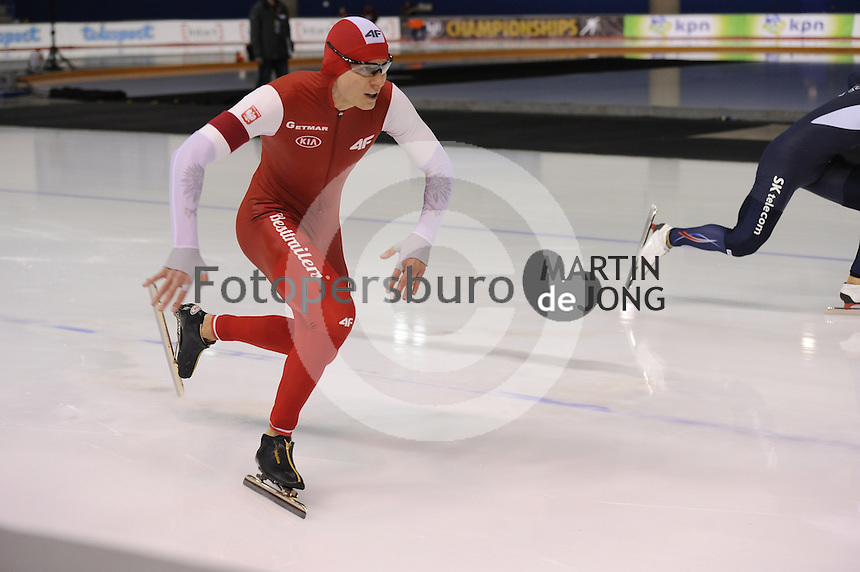 SPEEDSKATING: CALGARY: Olympic Oval, 25-02-2017, ISU World Sprint Championships, 500m Men, Sebastian Klosinski (POL), ©photo Martin de Jong