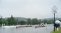 Henley-on-Thames. United Kingdom.  Heat of the Princess Elizabeth Challenge Cup. Oxon, Kings School Chester and Winchester College.  2017 Henley Royal Regatta, Henley Reach, River Thames. <br /> <br /> 08:10:52  Wednesday  28/06/2017   <br /> <br /> [Mandatory Credit. Peter SPURRIER/Intersport Images.