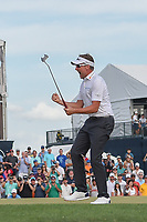 Ian Poulter (GBR) reacts to sinking his putt to win the Houston Open, Golf Club of Houston, Houston, Texas. 4/1/2018.<br /> Picture: Golffile | Ken Murray<br /> <br /> <br /> All photo usage must carry mandatory copyright credit (&copy; Golffile | Ken Murray)