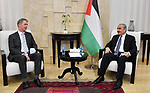 Palestinian Prime Minister Mohammad Ishtayeh, receives the Irish Ambassador, in the West Bank city of Ramallah, on July 28, 2020. Photo by Prime Minister Office