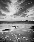 Black and White Long exposures shot at Compton Bay on the Isle of Wight using the Fujifilm X-T1 camera, the XF18mmF2R lens with Hoya 10 stop ND filter.