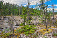 Trout River at Samdaa Deh Falls (Mackenzie Highway)<br /> Samdaa Deh Falls Territorial Park<br /> Northwest Territories<br /> Canada