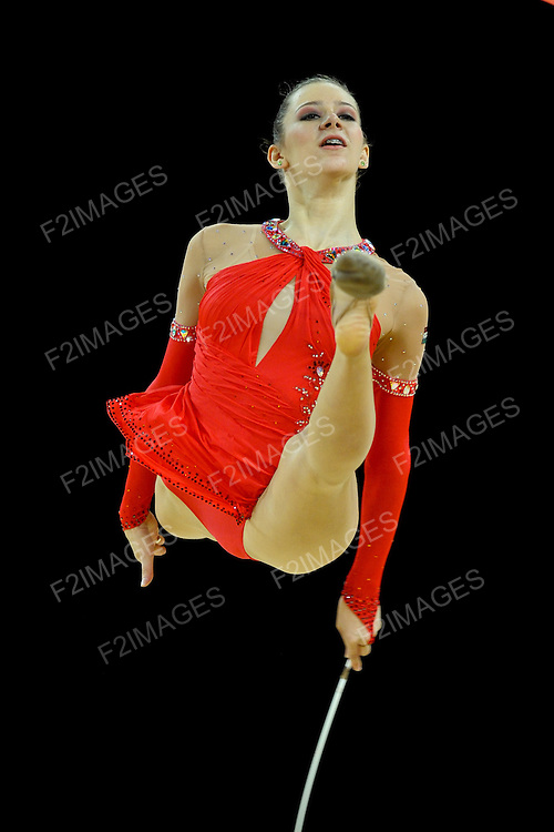 Rhythmic World Championships Montpelier France  Individual Competition Ribbon & Clubs.  HUN 8733 FORRAY Fanni Dalma