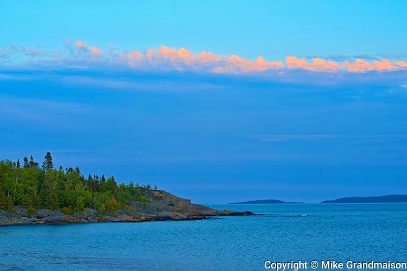 Lake Superior at sunset, Rossport, Ontario, Canada