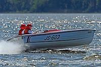 """Len Finethy, JS-603 """"Ofwego"""" (1983 Bender Jersey Speed Skiff)"""