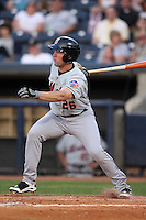 Binghamton Mets Designated Hitter Marshall Hubbard (26) at bat during a game vs. the Akron Aeros at Eastwood Field in Akron, Ohio;  June 25, 2010.   Binghamton defeated Akron 5-3.  Photo By Mike Janes/Four Seam Images
